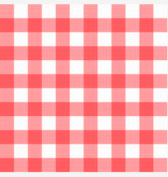 linen gingham checkered blanket tablecloth vector image