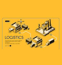 logistics company isometric web banner vector image