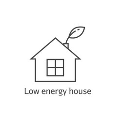 Low energy house thin line icon vector