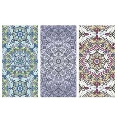 Mandala pattern banner setOrientethnic cards vector image