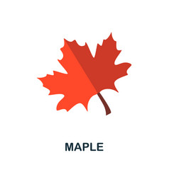 Maple icon simple element from autumn collection vector