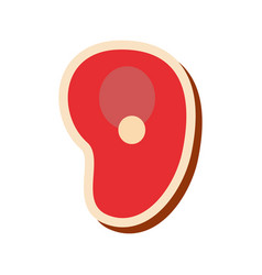 meat steek icon vector image