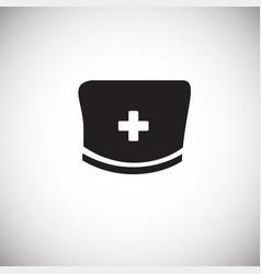 medical hat on white background vector image