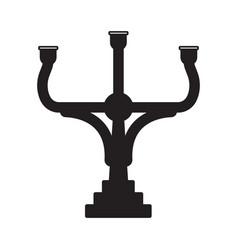 Medieval candelabrum or candelabra flat icon vector