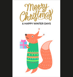 merry christmas and winter vector image