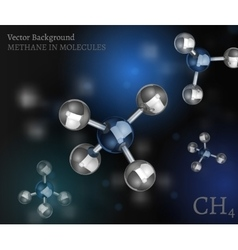 Methane Molecules Background vector image