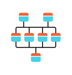 Network diagram color icon cluster diagram vector