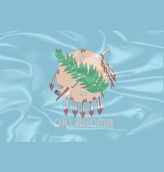 Oklahoma state silk flag vector