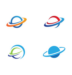 planet globe icon design vector image
