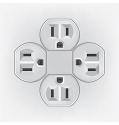 Plug socket faces vector