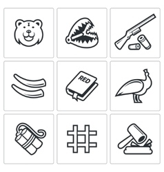 Poaching icons vector