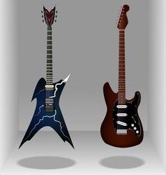 Realistic classic electric guitars Sleek style vector image