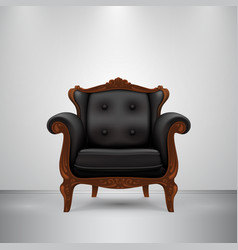 retro chair black vector image
