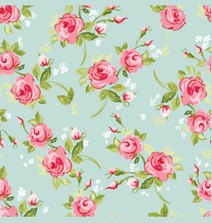 seamless floral roses vector image