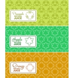 Seamless logo with label for natural juice vector