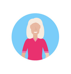 senior woman happy grandmother face avatar female vector image
