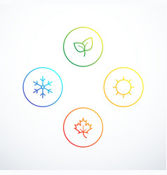 Set of season icons vector