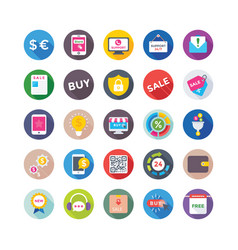 Shopping and commerce icons 4 vector