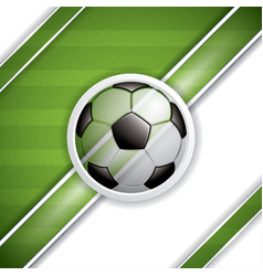 soccer ball brochure vector image