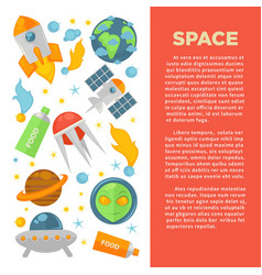 space commercial banner with planets and cosmic vector image
