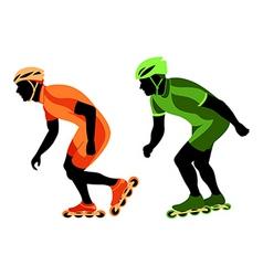 Speed skating vector
