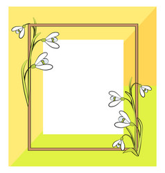 Spring frame of green yellow vector