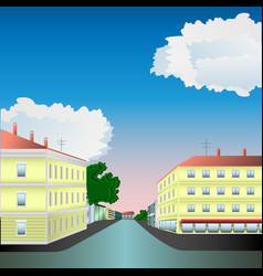 street of the old town vector image