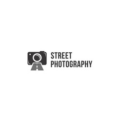 Street photography logo icon template vector