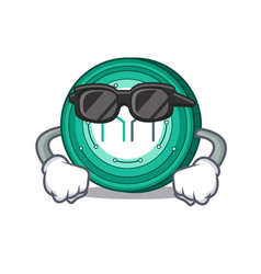 Super cool maker coin character cartoon vector