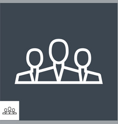teamwork thin line icon vector image