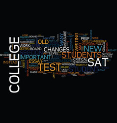 The new sat text background word cloud concept vector