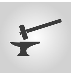 The smithy icon Forge and stithy blacksmith vector image