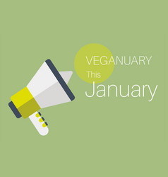 veganuary this january message vector image