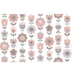 vintage pale pink geometric flower pattern vector image