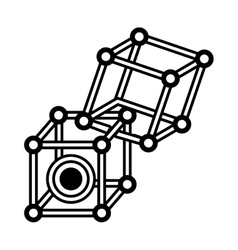 Vr circular camera 3d panorama outline vector