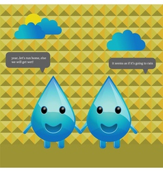 water drops conversation vector image