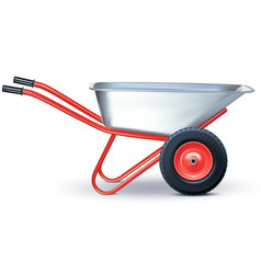 Wheelbarrow on white vector