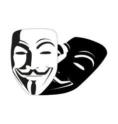 White mask anonymous vector