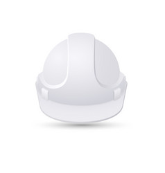 white safety helmet isolated on white background vector image