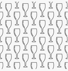 wine glass seamless pattern vector image vector image