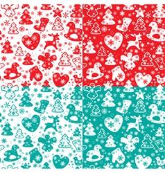 xmas red seaml 2 380 vector image