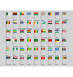 African countries flags vector image