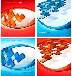 backgrounds with mosaic vector image vector image