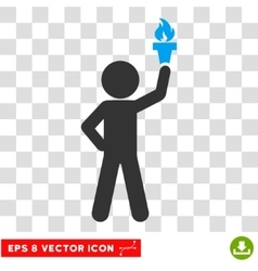 Child With Freedom Torch Eps Icon vector image vector image
