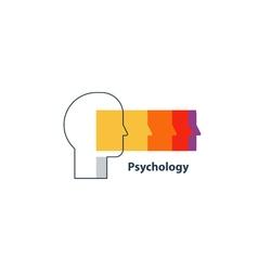 Emotional intelligence concept psychology logo vector image