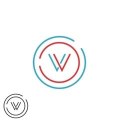 Initials VV combination monogram logo V letter vector image vector image