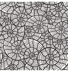 vector seamless monochrome pattern with sea shells vector image vector image