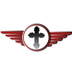 Wings button logo vector image vector image