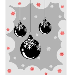 Christmas balls with snowflakes vector image