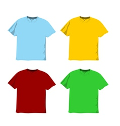 Colorful blank t-shirts vector image vector image